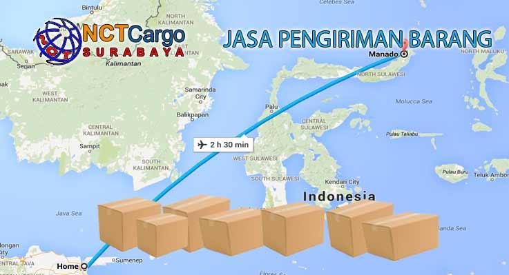 jasa pengiriman barang surabaya manado