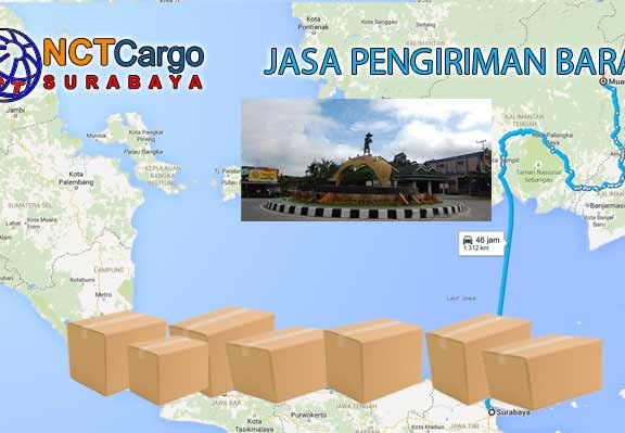 Jasa Pengiriman Barang Surabaya Muara Teweh