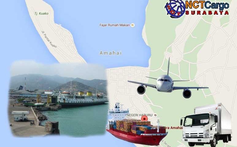jasa pengiriman barang Surabaya Amahai