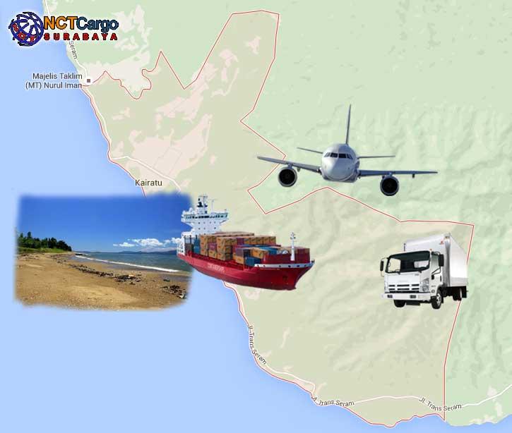 jasa pengiriman barang Surabaya Kairatu