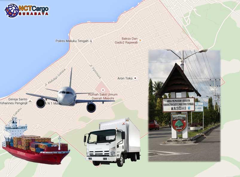 jasa pengiriman barang Surabaya Masohi