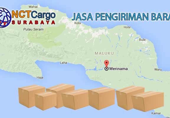 jasa pengiriman barang Surabaya ke Werinama