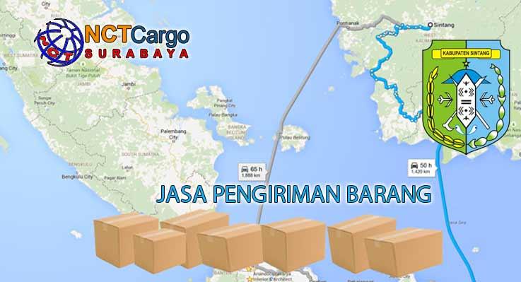 Jasa Pengiriman Barang Surabaya ke Sintang Kalbar