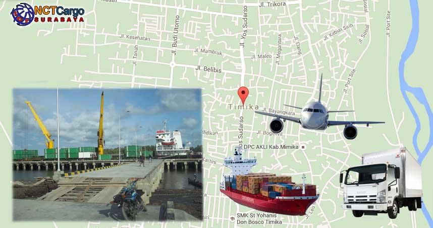 Jasa Pengiriman Barang Surabaya Timika